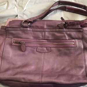 Coach | Shimmer Pebbled Leather purse bag